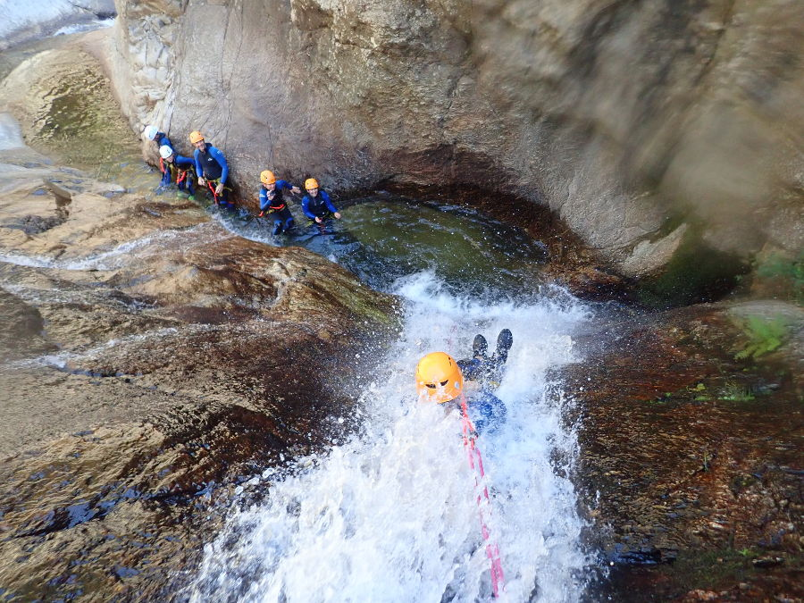 Canyoning Au Rec Grand, Près De Mons La Trivalle Dans L'Hérault, En Occitanie