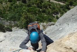 Escalade Grande Voie Au Thaurac, Avec Les Moniteurs D'entre2nature, Basé Sur Montpelliet Dans L'Hérault Et Le Gard En Languedoc-Roussillon.