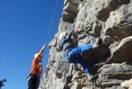 Escalade à Valflaunès Avec Les Moniteurs D'entre2nature, Basé à Montpellier, Dans L'Hérault Et Le Gard En Languedoc-roussillon