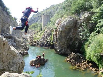 Canyoning près de Montpellier dans l'Hérault pour un bel EVG