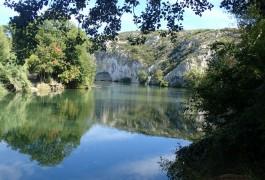 Vioa-ferrata Du Vidourle Près De Saint-Sériès Dans Le Gard