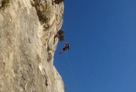 Rappel En Grande Voie, Avec Des Moniteurs Professionnels D'escalade Et Canyon, Dans L'Hérault Et Le Gard à Montpellier