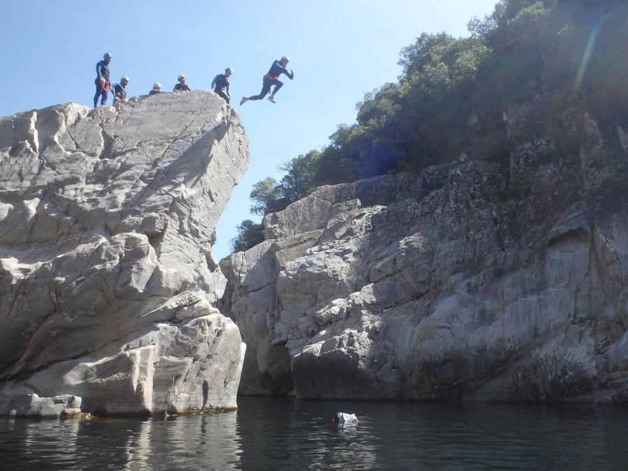 Canyoning En Cévennes Près De St-Jean Du Gard Dans Le Gard