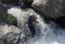 Toboggan En Canyoning Pour La Randonnée Aquatique Du Soucy, Près De St-Jean Du Gard