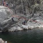 Enterrement De Vie De Garçon Dans Le Canyon Du Soucy En Cévennes Dans Le Gard, Avec Les Guides Professionnels De Montpellier En Languedoc-Roussillon.