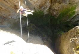 Via-ferrata Du Liaucous Avec Les Moniteurs D'entre 2 Nature, Basé à Montpellier Dans Le Gard
