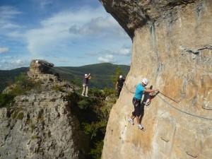 Activité de pleine nature et via-ferrata dans le Liaucous, entre l'Hérault et le Gard, en Languedoc-Roussillon