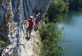 Via-ferrata Du Vidourle Près Du Gard, Dans L'Hérault, Accompagné Des Guides De Pleine Nature De Montpellier. Sports De Pleine Nature Pour Petits Et Grands.