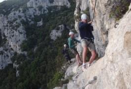 Via-ferrata Près De Montpellier Dans Le Thaurac En Languedoc-Roussillon Dans L'Hérault Et Le Gard