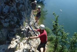 Via-ferrata Du Vidourle Au Bord De L'eau Dans L'Hérault En Languedoc. Encadrement Par Des Guides Professionnels De Sports De Pleine Nature Dans Tous Le >Languedoc-Roussillon.