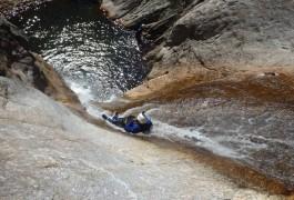 Toboggan Naturel Géant, Pour Ce Canyon Aquatique Et Ludique Dans Le Rec Grand. Découverte Du Caroux Dans L'Hérault En Languedoc-Roussillon Près De Montpellier