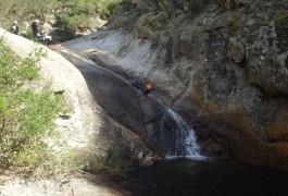 Toboggan En Canyoning Au Rec Grand Dans Le Caroux, Près De Mons La Trivalle Dans L'Hérault