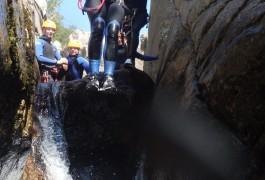 Canyoning Au Tapoul Dans Les Cévennes, Près Du Mont Aigouall. Entre Gard Et Hérault