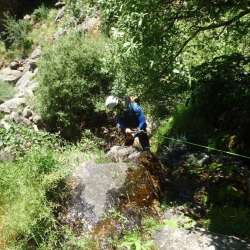 Canyoning Près Du Vigan Dans Le Gard, Près Du Mont Aigoual En Cévennes