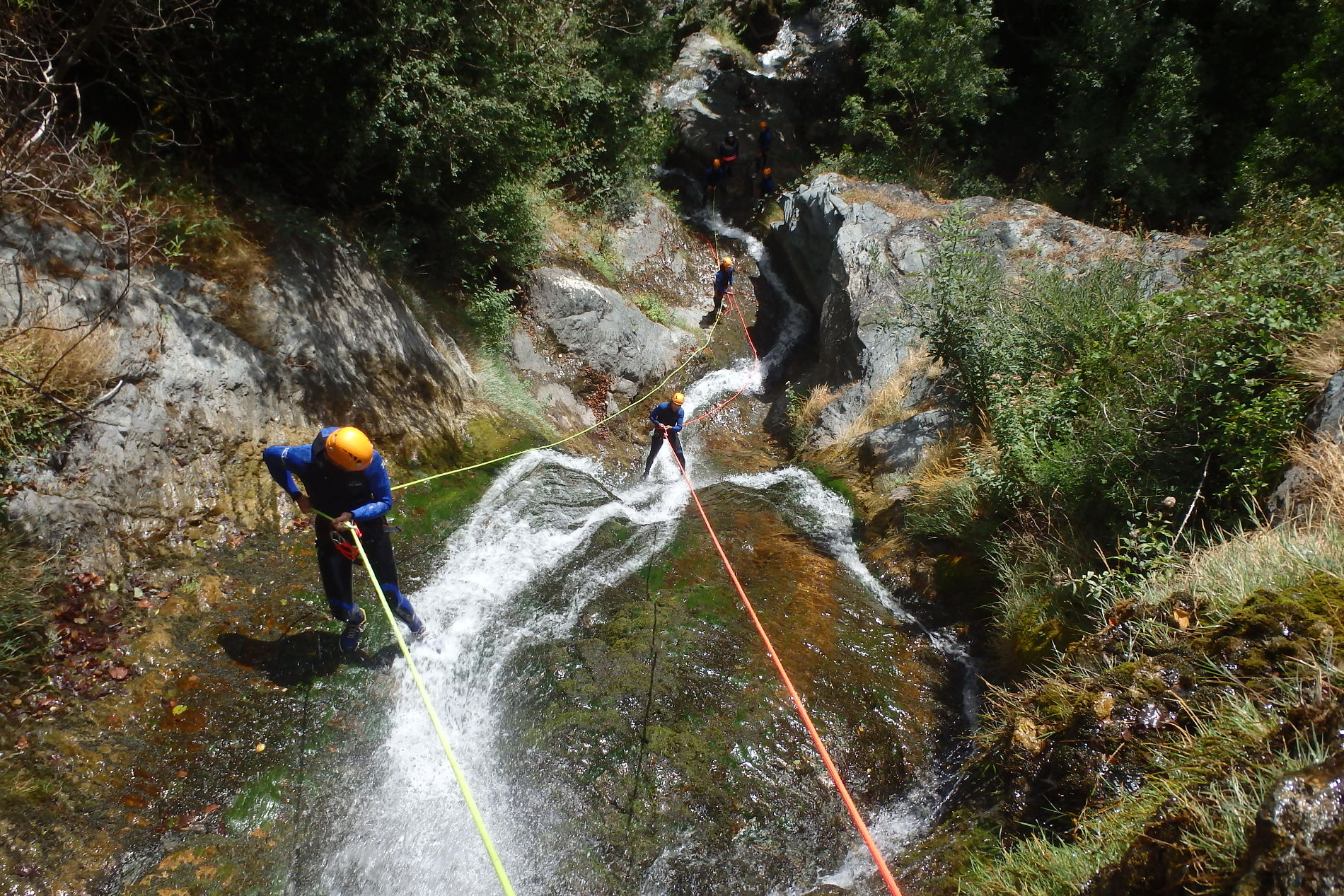 canyoning-albes-caroux-rappel-herault