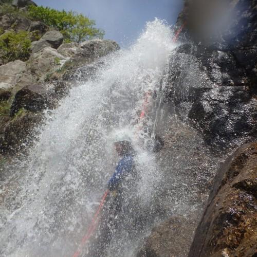 Canyoning Dans Le Gard En Cévennes Près Du Vigan, Pour Un Enchaînement De Rappels