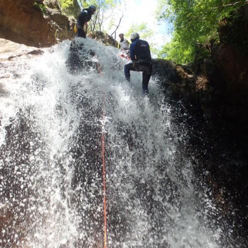 Rappel En Canyoning Dans L'Orgon En Cévennes Au Mont Aigoual
