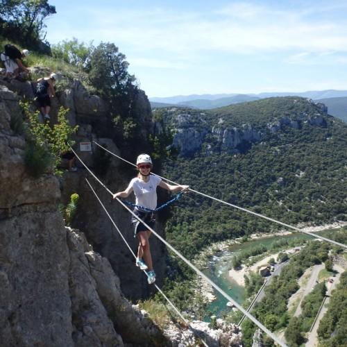 Via-ferrata Près Des Cévennes Et Montpellier Avec Les Moniteurs D'entre2nature