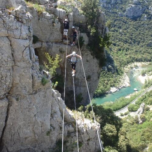 Via-ferrata Du Thaurac Près De Montpellier Dans L'Hérault En Languedoc