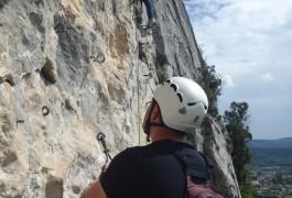 Via-ferrata Dans Les Cévennes Près De Ganges Et Montpellier Dans L'Hérault