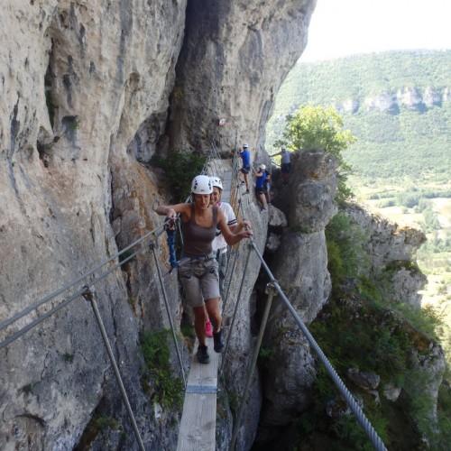 Via-ferrata Du Liaucous Dans L'Aveyron Entre Millau Et Les Gorges Du Tarn