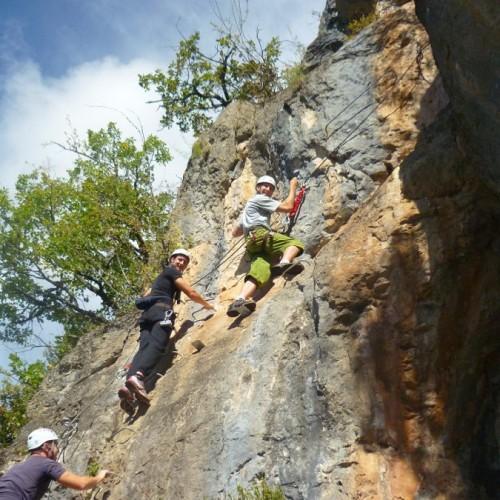 Via-ferrata Du Liaucous Entre Millau Et Les Gorges Du Tarn Dans L'Aveyron