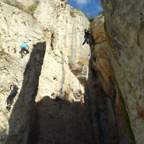 Via-ferrata Du Liaucous Aux Portes Des Gorges Du Tarn Et Près De Millau Dans L'Aveyron