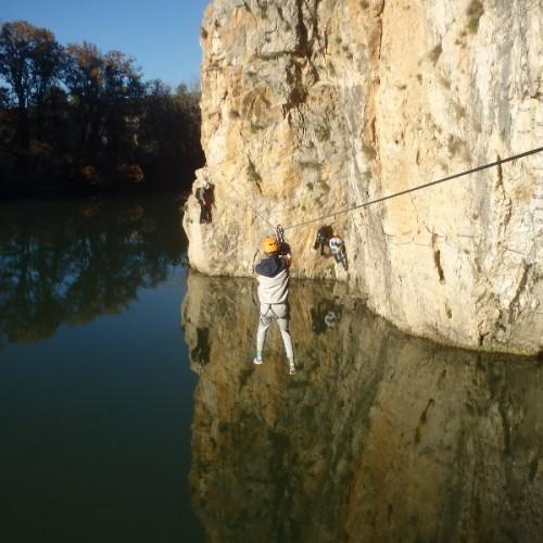 Via-ferrata Du Vidourle Dans Le Gard à Saint-Sériès Et Près De Lunel