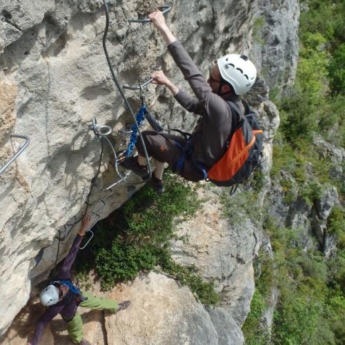 Via-ferrata Du Liaucous Près De Millau Dans L'Aveyron, Près Des Gorges Du Tarn