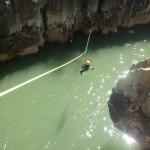 Canyon Du Diable Et Tyrolienne Dans Les Gorges De L'Hérault Près De Saint-Guilhem Le Désert Au Pont Du Diable