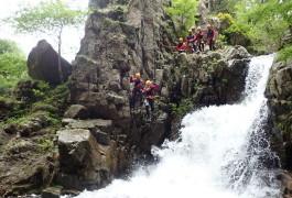 Canyon Des Cascades D'Orgon Dans Les Cévennes Près Du Mont Aigoual