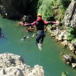Canyon Du Diable Près De Montpellier Dans Les Gorges De L'Hérault En Occitanie