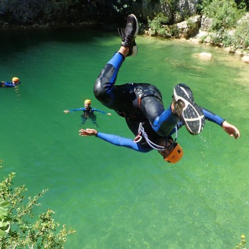 Canyon Du Ravin Des Arcs Près De Montpellier Dans L'Hérault