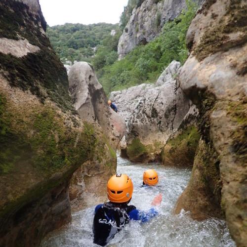 Canyon Près De Montpellier Dans L'Hérault Au Ravin Des Arcs En Occitanie