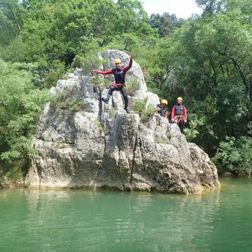 Canyon Et Randonnée Du Ravin Des Arcs Près De Montpellier
