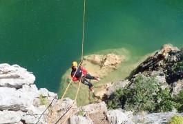 Canyon Du Ravin Des Arcs Et Sa Tyrolienne Dans L'Hérault