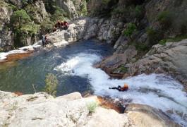 Canyon Du Rec Grand Dans Le Caroux Près De Béziers