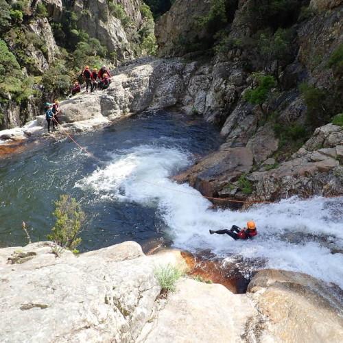 Canyon Du Rec Grand Dans Le Caroux Près De Montpellier