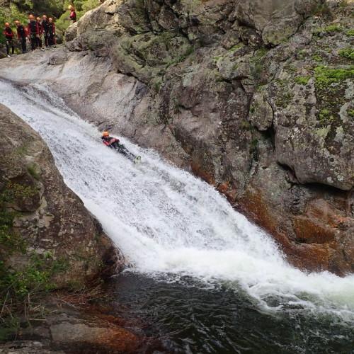 Canyoning Au Canyon Du Rec Grand Et Son Toboggan, Avec Entre2nature