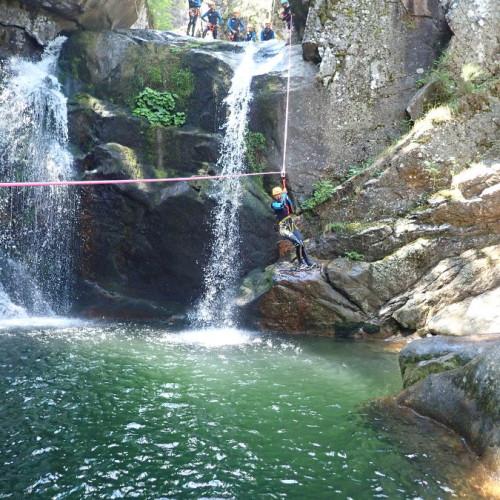 Canyon Du Tapoul En Cévennes Avec Sa Tyrolienne Splash. A Deux Pas Du Gard Et De L'Hérault.