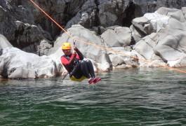 Tyrolienne En Canyoning Au Canyon Du Soucy Dans Le Gard