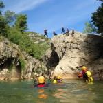 Canyoning Près De Montpellier Dans Les Gorges De L'Hérault, Près De Saint-Guilhem Le Désert