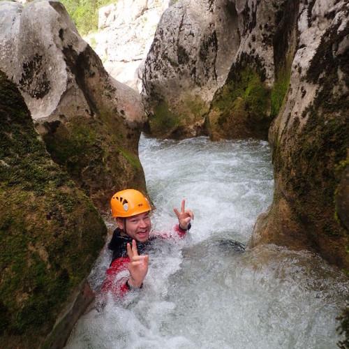 Canyoning Près De Montpellier Dans L'Hérault Au Ravin Des Arcs En Occitanie
