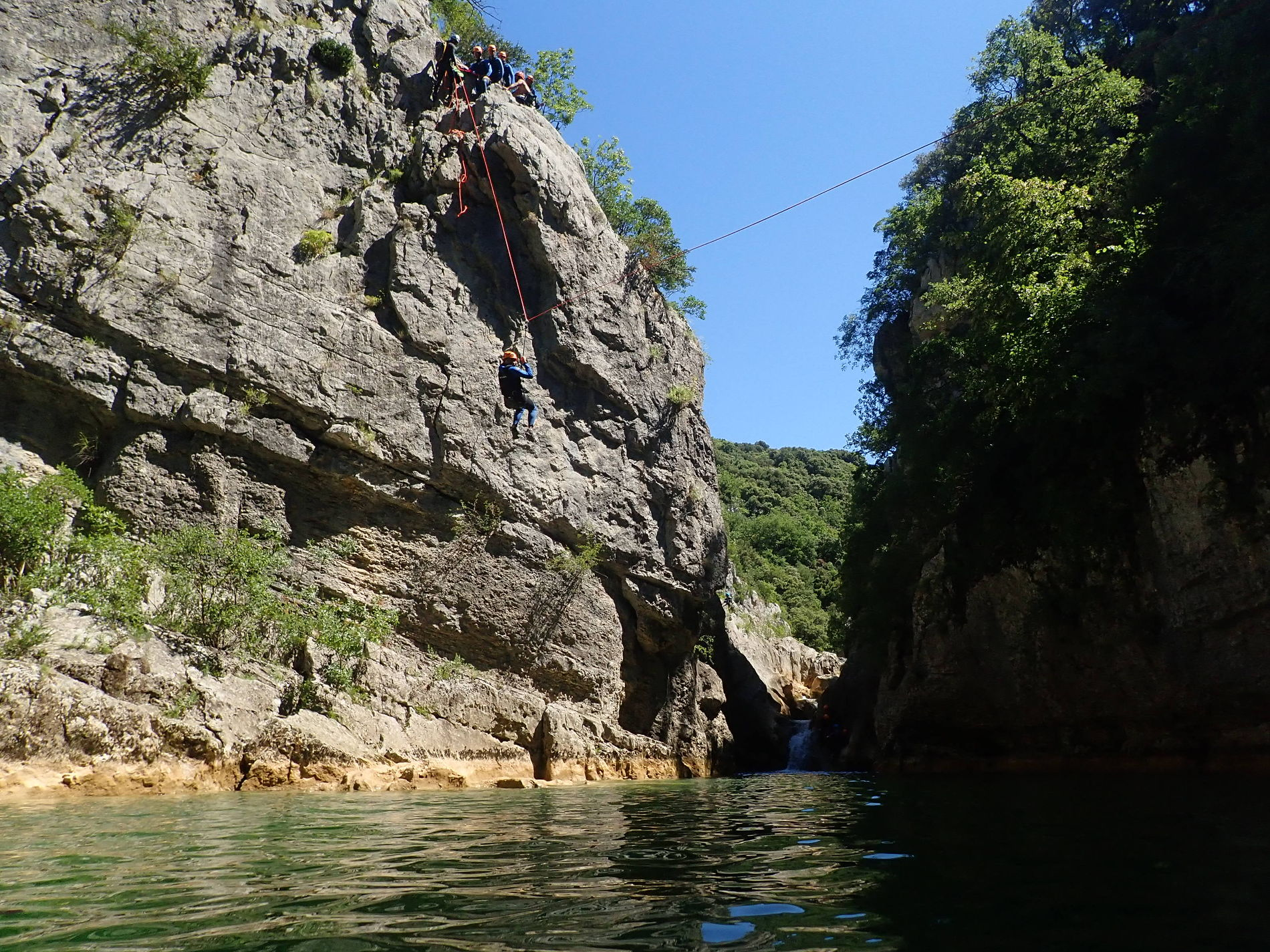 canyoning-montpellier-herault-tyrolienne