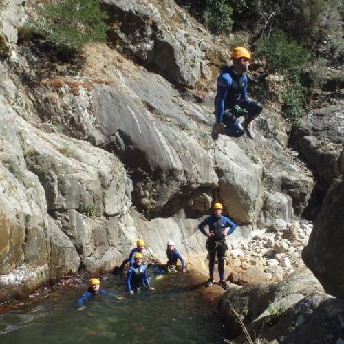 Canyoning Au Rec Grand, Près De Montpellier Dans L'Hérault