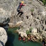 Canyoning Et Saut Au Canyon Du Diable, Près De Montpellier Dans Les Gorges De L'Hérault