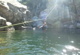 Tyrolienne En Canyoning Au Soucy Près D'Alès Dans Le Gard