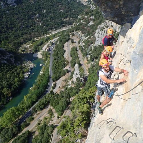 Via-ferrata Du Thaurac Au-dessus Des Gorges De L'Hérault Près De Montpellier