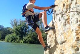 Via-ferrata Du Vidourle Dans Le Gard Proche De Montpellier