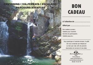 Bon cadeau en canyoning, près de Montpellier dans l'Hérault et le Gard en Occitanie